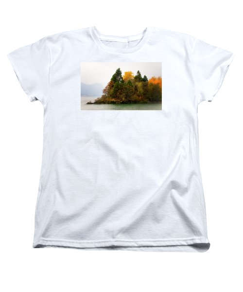 Women's T-Shirt (Standard Cut) featuring the photograph Autumn On The Columbia by Albert Seger
