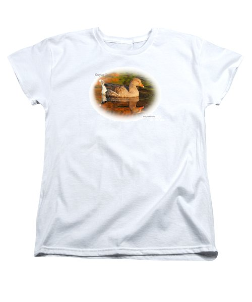 Women's T-Shirt (Standard Cut) featuring the photograph Autumn Reflection by Debbie Stahre