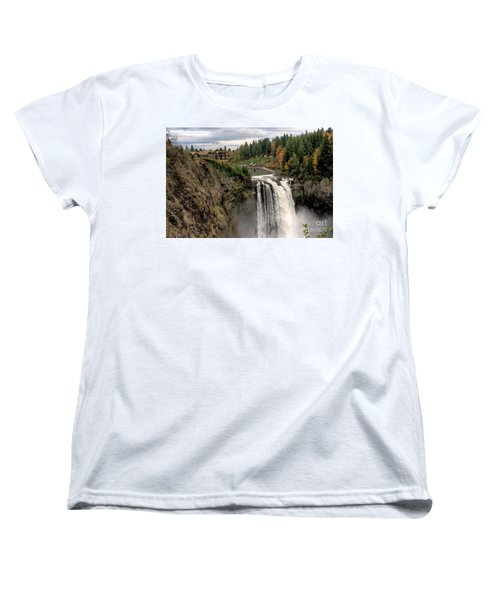 Autumnal Falls Women's T-Shirt (Standard Cut) by Chris Anderson