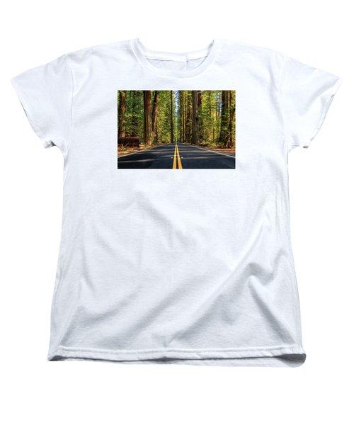 Avenue Of The Giants Women's T-Shirt (Standard Cut) by James Eddy