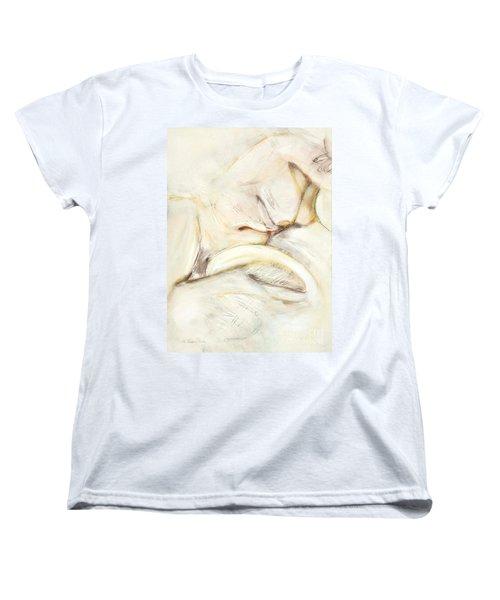 Award Winning Abstract Nude Women's T-Shirt (Standard Cut) by Kerryn Madsen-Pietsch