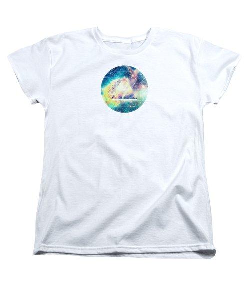 Awsome Collosal Deep Space Triangle Art Sign Women's T-Shirt (Standard Cut)