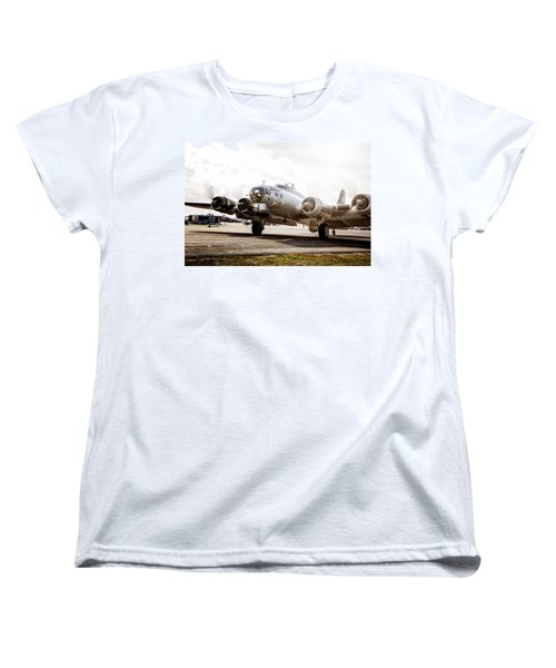 B-17 Bomber Ready For Takeoff Women's T-Shirt (Standard Cut)