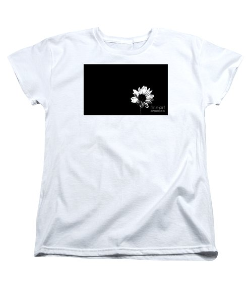 B/w Flower  Women's T-Shirt (Standard Cut) by Juls Adams
