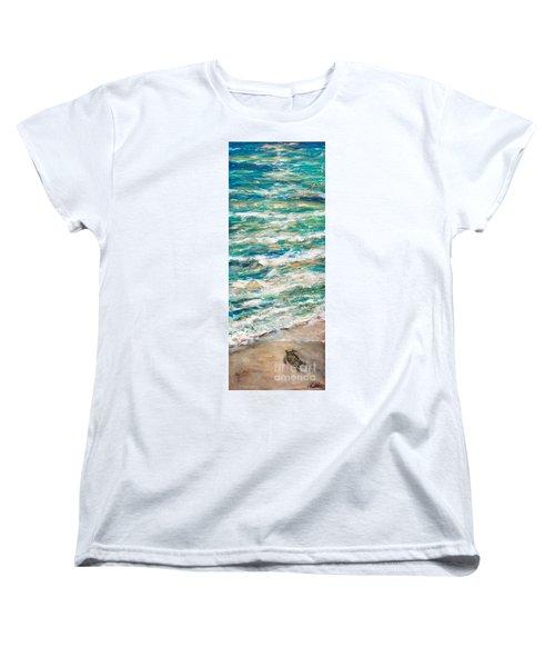 Baby Sea Turtle II Women's T-Shirt (Standard Cut) by Linda Olsen
