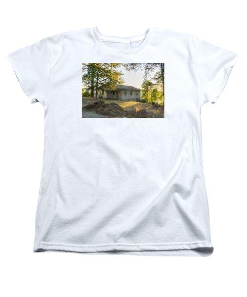 Back Porch Sunset Women's T-Shirt (Standard Cut) by Ricky Dean