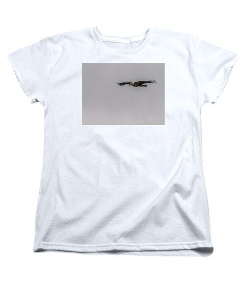 Women's T-Shirt (Standard Cut) featuring the photograph Bald Eagle Gliding by Timothy Latta