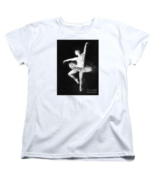 Women's T-Shirt (Standard Cut) featuring the photograph Ballerina  No. 2   ... by Chuck Caramella