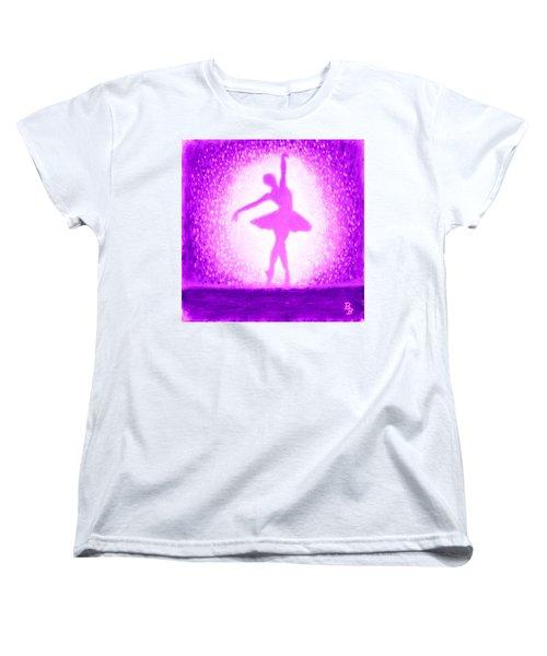Ballerina Purple And Pink Women's T-Shirt (Standard Cut)