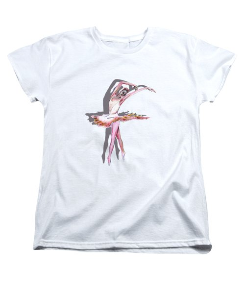 The Ballerina Dance Art Remix Women's T-Shirt (Standard Cut) by Tom Conway