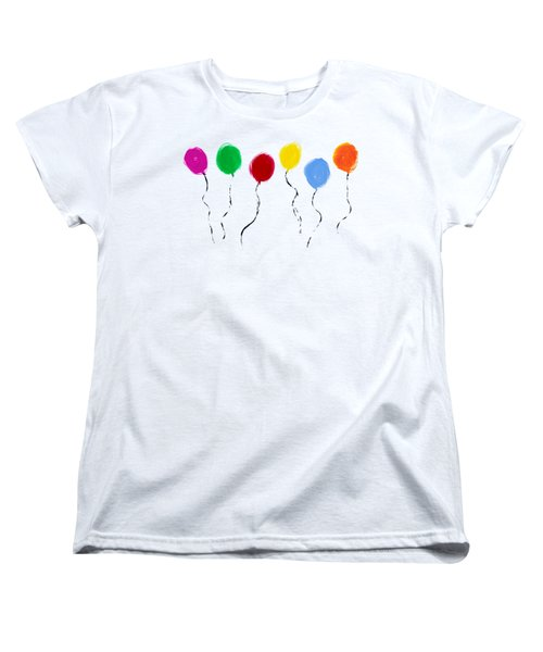 Women's T-Shirt (Standard Cut) featuring the painting Balloons  by Tim Gainey