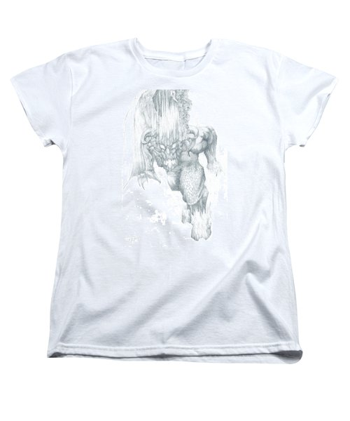 Women's T-Shirt (Standard Cut) featuring the drawing Balrog Sketch by Curtiss Shaffer