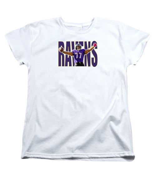 Women's T-Shirt (Standard Cut) featuring the digital art Baltimore Ravens by Stephen Younts