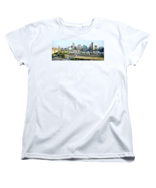 Women's T-Shirt (Standard Cut) featuring the photograph Baltimore's Inner Harbor by Brian Wallace