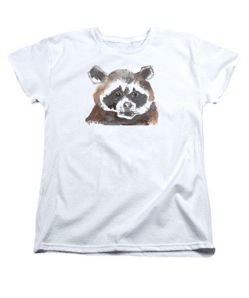 Bandit Raccoon Women's T-Shirt (Standard Cut) by Kathleen McElwaine