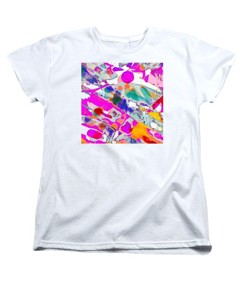 Banner In The Breeze Women's T-Shirt (Standard Cut) by Expressionistart studio Priscilla Batzell