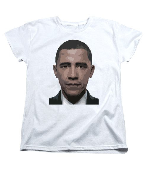 Barack Obama Women's T-Shirt (Standard Cut) by Tshepo Ralehoko