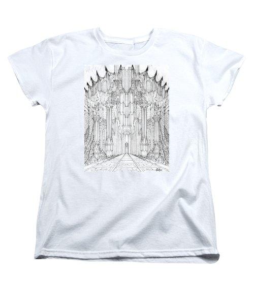Barad-dur Gate Study Women's T-Shirt (Standard Cut) by Curtiss Shaffer