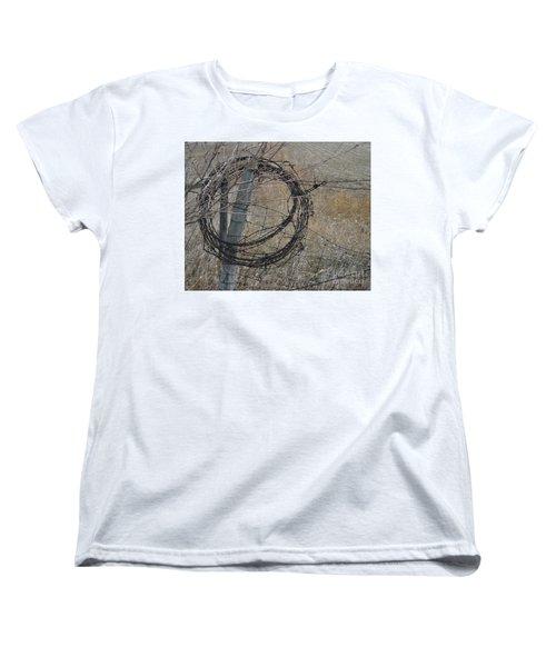 Barbed Wire Women's T-Shirt (Standard Cut) by Renie Rutten