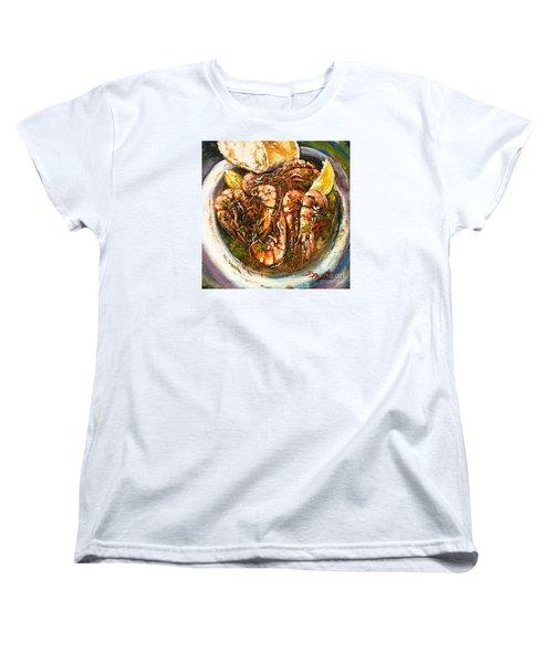 Barbequed Shrimp Women's T-Shirt (Standard Cut) by Dianne Parks
