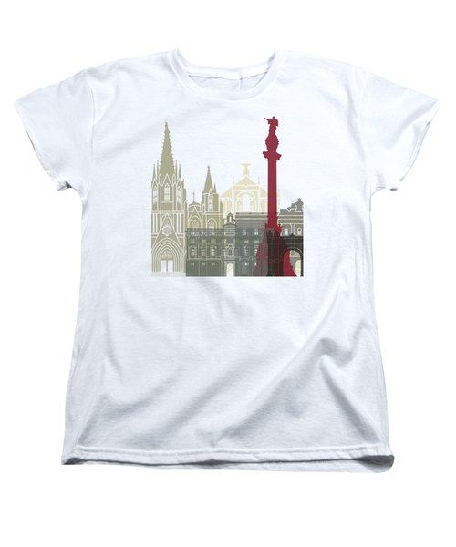 Barcelona Skyline Poster Women's T-Shirt (Standard Cut)