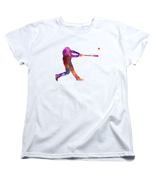 Baseball Player Hitting A Ball 01 Women's T-Shirt (Standard Cut) by Pablo Romero