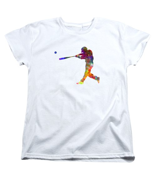 Baseball Player Hitting A Ball 02 Women's T-Shirt (Standard Cut) by Pablo Romero