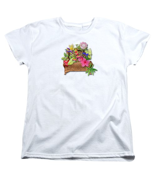 Basket Of Tropicals Women's T-Shirt (Standard Cut) by Larry Bishop
