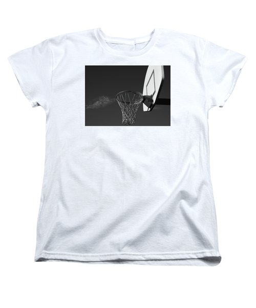 Women's T-Shirt (Standard Cut) featuring the photograph Basketball Court by Richard Rizzo