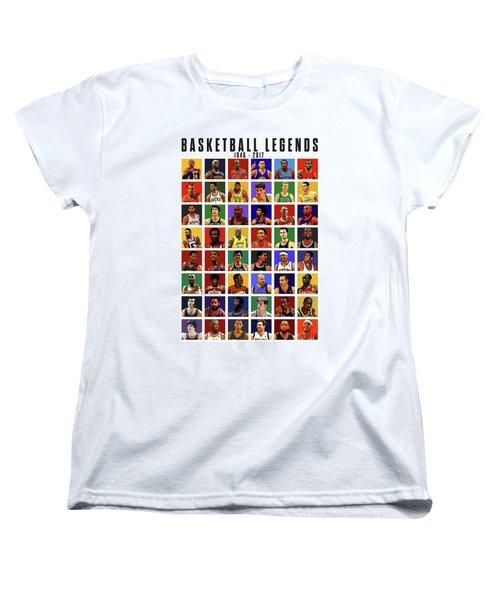 Basketball Legends Women's T-Shirt (Standard Cut) by Semih Yurdabak