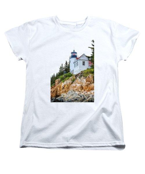 Bass Harbor Head Lighthouse 1 Women's T-Shirt (Standard Cut) by John McArthur