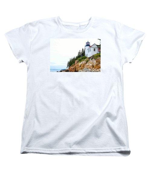 Bass Harbor Head Lighthouse 2 Women's T-Shirt (Standard Cut) by John McArthur