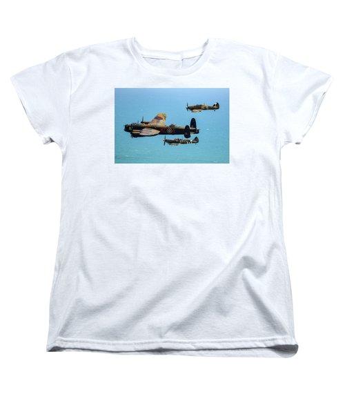 Bbmf Eastbourne Beachy Head Flypast Women's T-Shirt (Standard Cut) by Ken Brannen