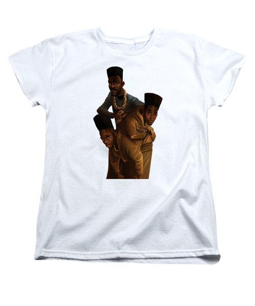 Bdk White Bg Women's T-Shirt (Standard Cut) by Nelson Dedos Garcia