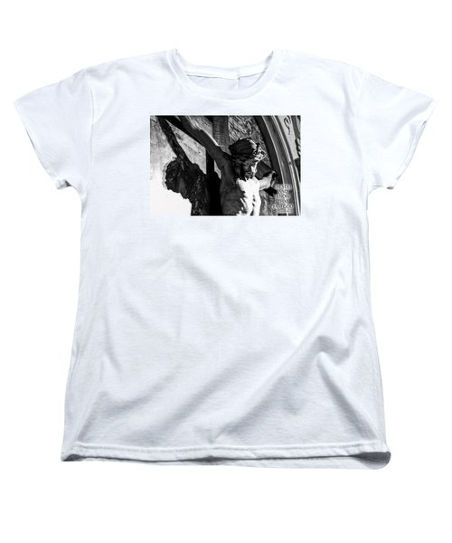 Women's T-Shirt (Standard Cut) featuring the photograph Be Still And Know That I Am God  Psalms 46 10 by Sonny Marcyan