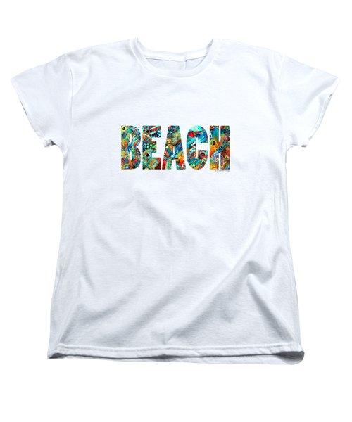 Beach Art - Beachy Keen - By Sharon Cummings Women's T-Shirt (Standard Cut) by Sharon Cummings