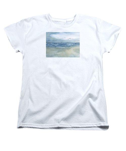 Beach Blue Women's T-Shirt (Standard Cut) by Frank Bright