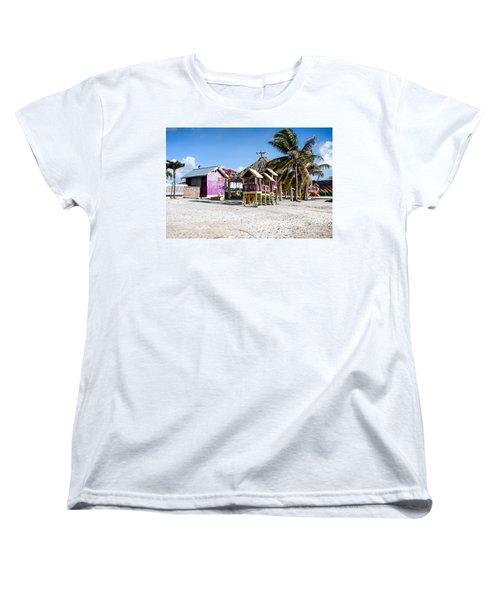 Beach Huts Women's T-Shirt (Standard Cut) by Lawrence Burry