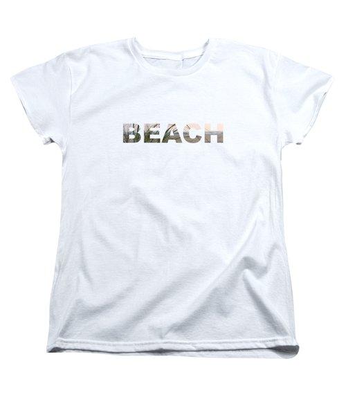 Beach Women's T-Shirt (Standard Cut) by Laura Kinker