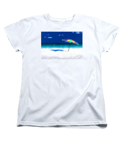 Beach Scene 4. Modern Decor Collection Women's T-Shirt (Standard Cut) by Mark Lawrence