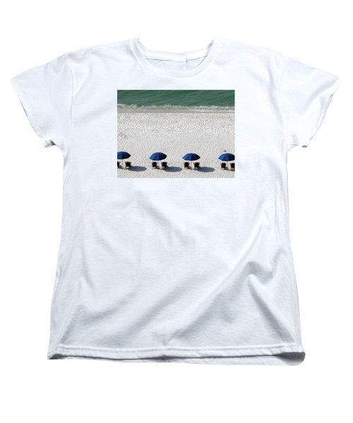Women's T-Shirt (Standard Cut) featuring the photograph Beach Therapy 2 by Marie Hicks