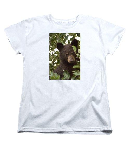 Bear Cub In Apple Tree7 Women's T-Shirt (Standard Cut) by Loni Collins