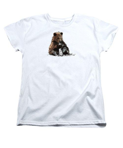 Bear Loves Ny Women's T-Shirt (Standard Cut) by Devlin
