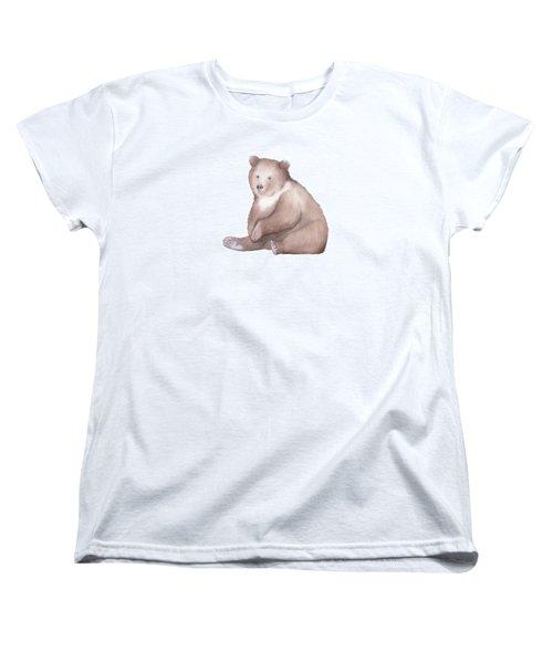 Bear Watercolor Women's T-Shirt (Standard Cut) by Taylan Apukovska