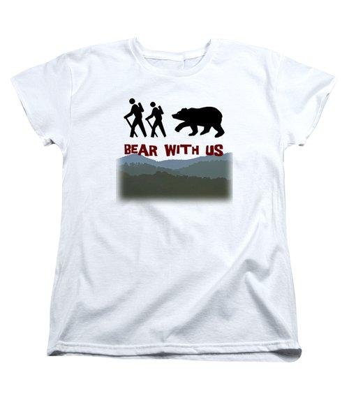 Bear With Us Women's T-Shirt (Standard Cut) by John Haldane
