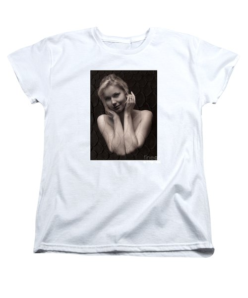 Women's T-Shirt (Standard Cut) featuring the photograph Beautiful Blonde Posing by Michael Edwards