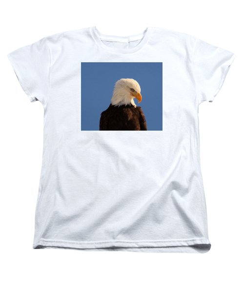 Women's T-Shirt (Standard Cut) featuring the photograph Beautiful Eagle by Jeff Swan