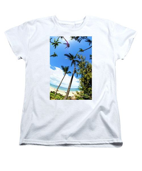 Women's T-Shirt (Standard Cut) featuring the photograph Beautiful Palms Of Maui 17 by Micah May