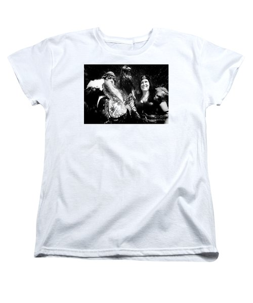 Women's T-Shirt (Standard Cut) featuring the photograph Beauty And The Beasts by Bob Christopher