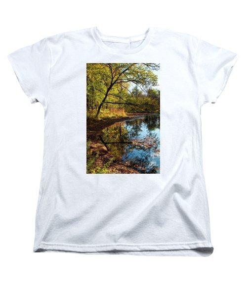 Women's T-Shirt (Standard Cut) featuring the photograph Beaver's Pond by Iris Greenwell